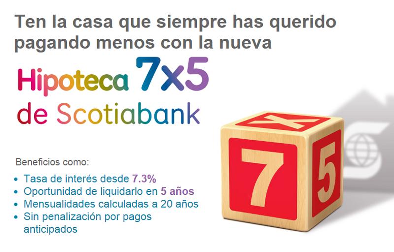 Scotiabank lanza nuevo producto hipotecario con tasas desde 7.3%